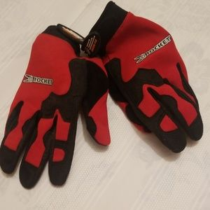 Rocket ball gloves soft leather palm Z216:6:619